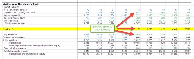 debt schedule - part 11