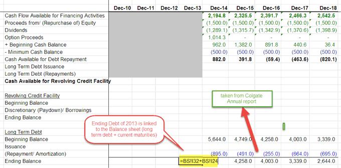 debt schedule - part 3