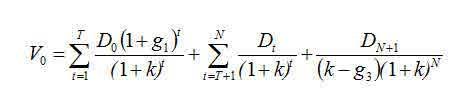 DDM Formula - three stage