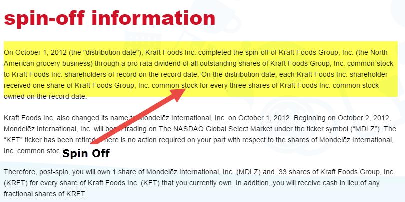 Kraft Foods Group Stock