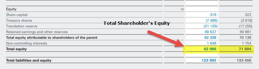 Nestle - Shareholders Equity - Equity Turnover Ratio