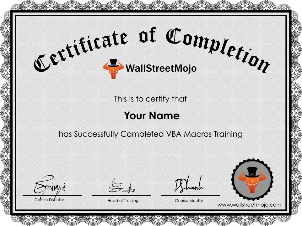 VBA Macros Training