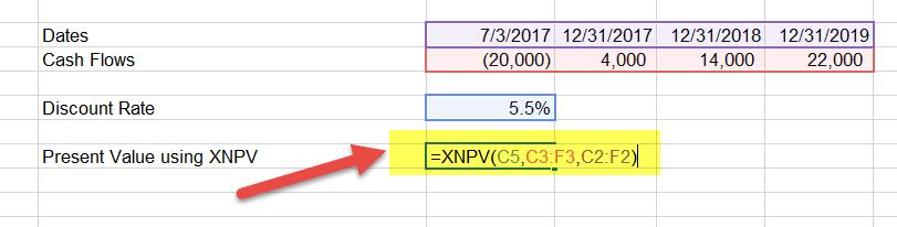 XNPV Example 1