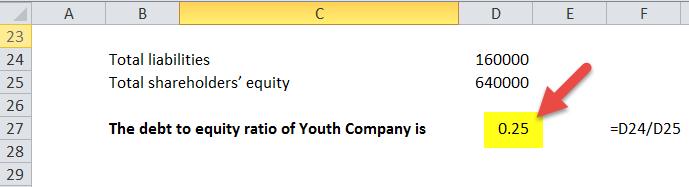 Debt to Equity Ratio in Excel