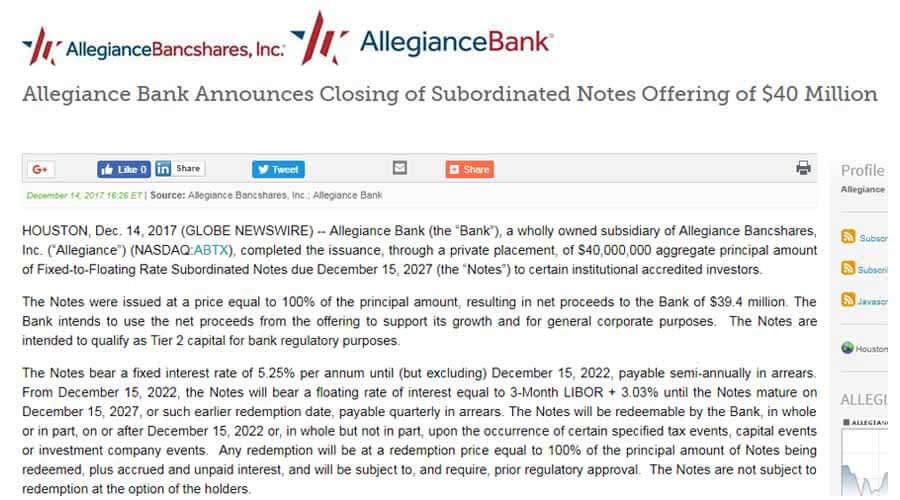 subordinate debt 1