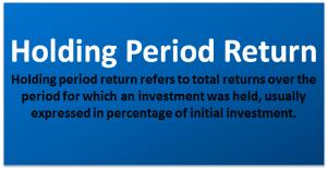 Holding Period Return Formula
