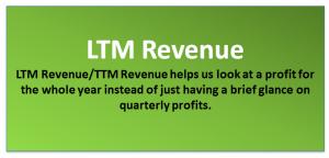 TTM Revenue / LTM Revenues
