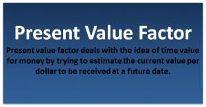 Present Value Factor Formula