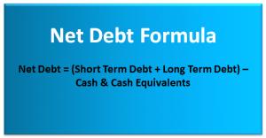 Net Debt Formula