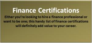 Top 10 Finance Certifications Programs