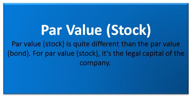 What is Par Value of Stock?