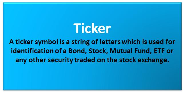 Ticker Symbol Examples Find Ticker Symbol Ticker Lookup