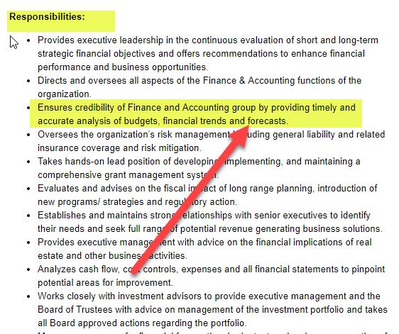 Cfo Job Description Qualification Role Of Chief Financial Officer