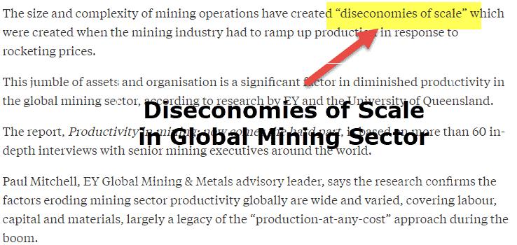 Diseconomies of Scale Example