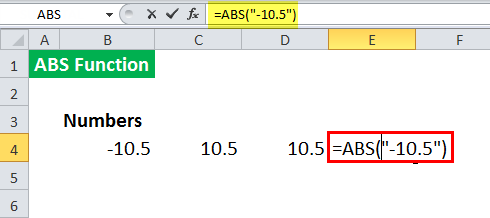 ABS in Excel - Illustration 6