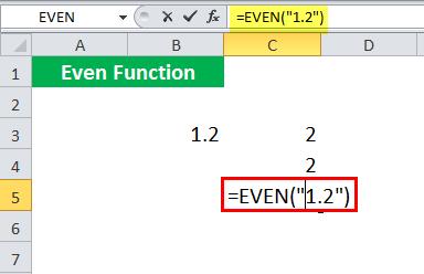 EVEN Function - Illustration 4