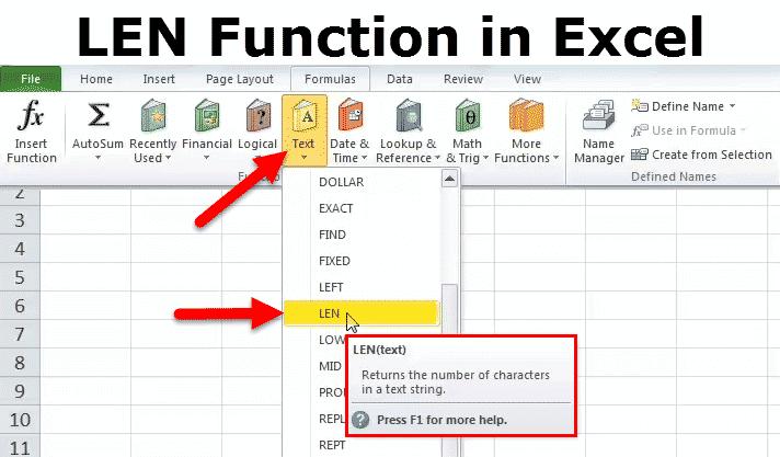 LEN Function in Excel