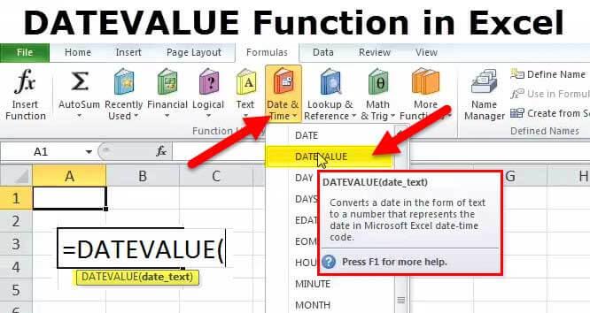 DATEVALUE Function in Excel