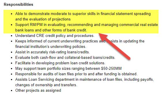 Financial Institution Analyst