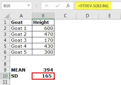 STDEV.S Example 1-3