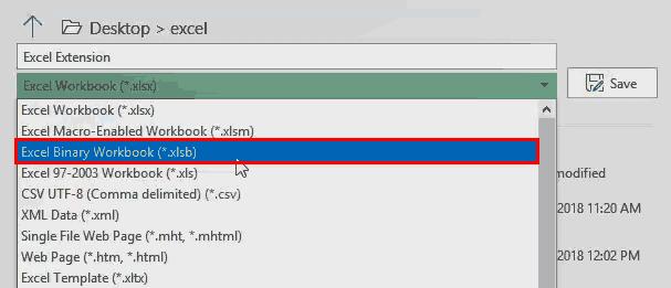 Excel Extensions (File Format 2 xlsb) 1