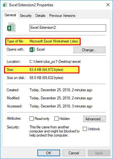 Excel Extensions (File Format 2 xlsb)