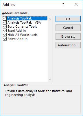 Excel Extensions (File Format 5 xlam) 1