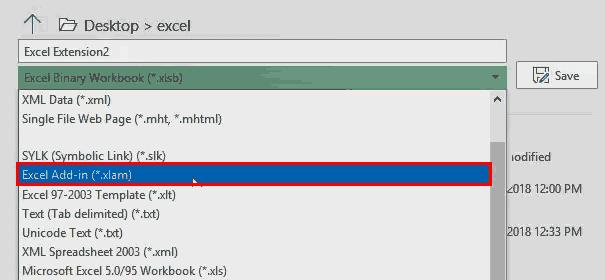 Excel Extensions (File Format 5 xlam) 2