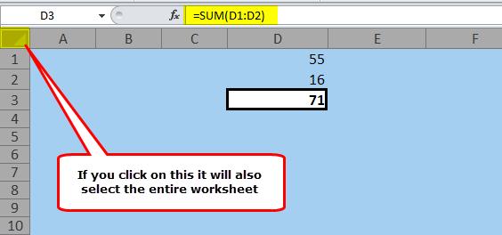 Hide Formulas in Excel Step 1