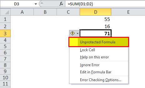 Hide Formulas in Excel Step 5