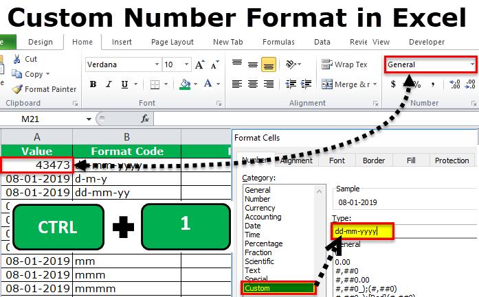 custom number format in excel
