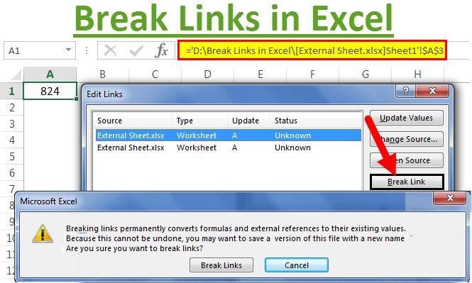 Break Links in Excel