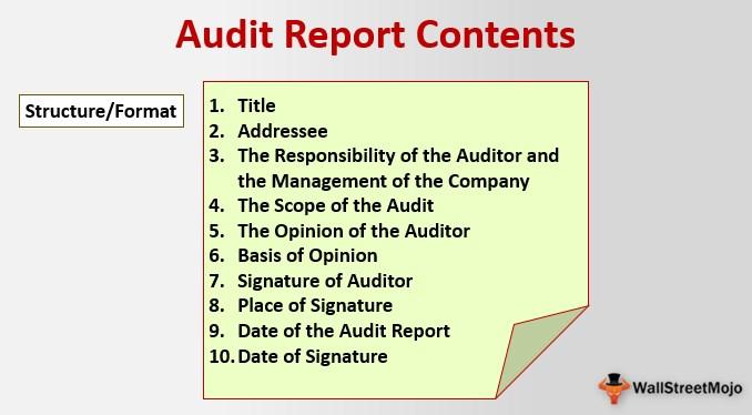 Audit Report Contents