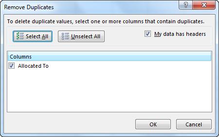 Column Remove Duplicates 1-4