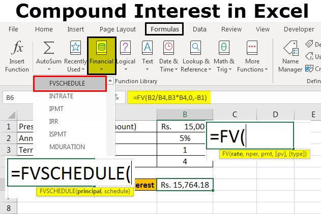 investment compound interest calculator excel
