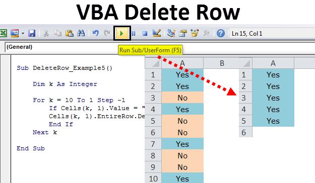 VBA Delete Rows | Examples to Delete Excel Rows using VBA