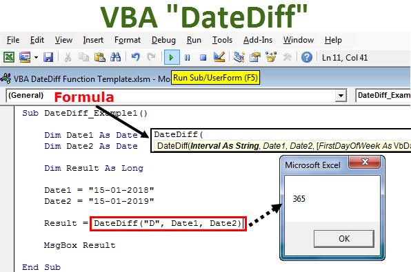 VBA DateDiff