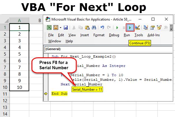 VBA For Next Loop