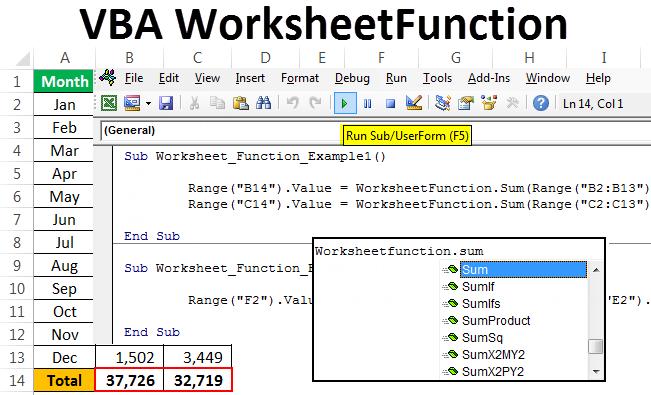 VBA Worksheet Function   How to Use WorksheetFunction in VBA