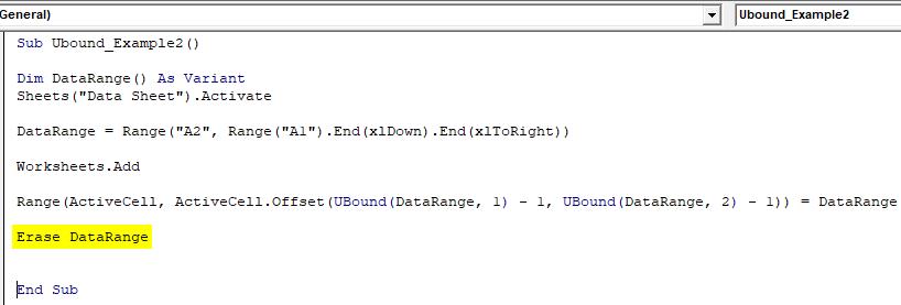 vbaUBound Example 2-9