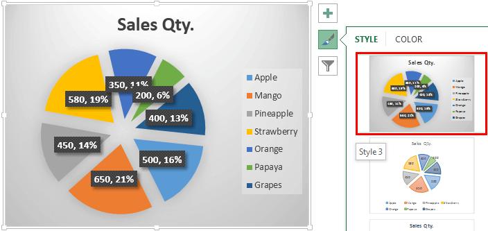 Pie Chart Example 1-12