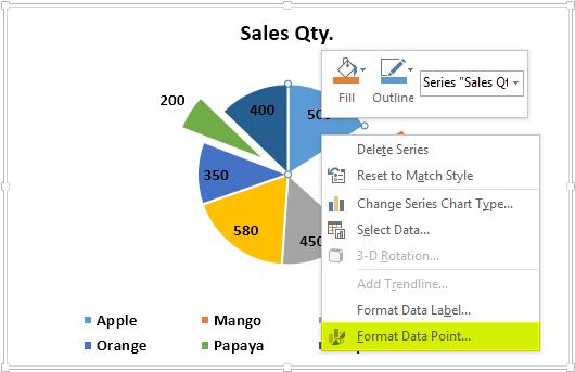 Pie Chart Example 1-7