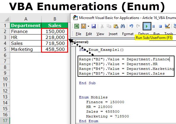 VBA Enumerations