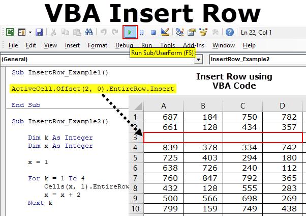 VBA Insert Row (Example, Code) | Top 5 Excel VBA Method to Insert Row