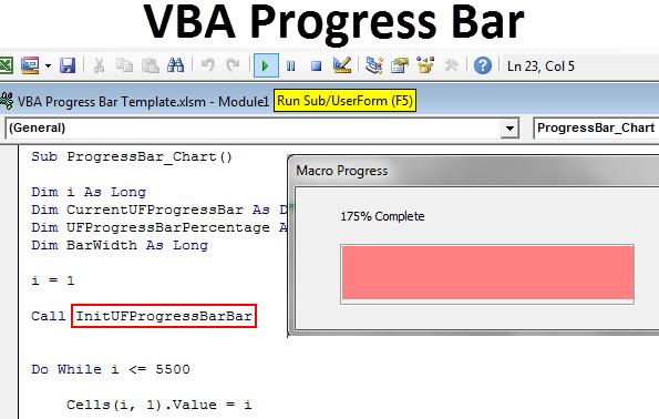 VBA Progress Bar
