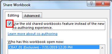 Share workbook Example 1-1