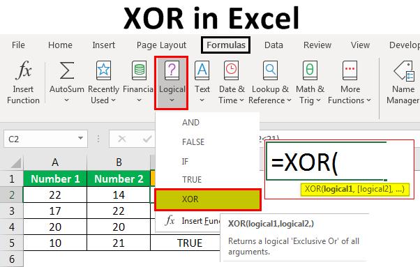 XOR-in-Excel