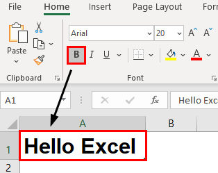 Excel Formatting Text Example 1.6