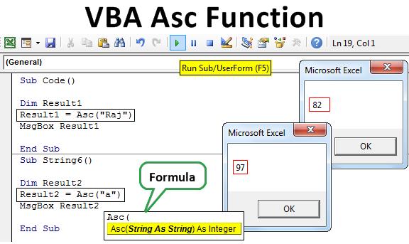 VBA Asc Function