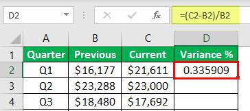 percentage change formula example 1-6
